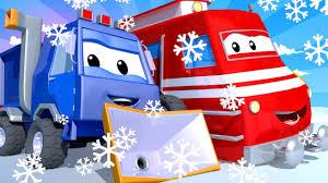 Xe lửa Troy - Xe cào tuyết Sam - Thành phố xe ? những bộ phim hoạt hình về  xe tải cho thiếu nhi - YouTube