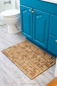 diy wine cork bath mat fun upcycling project for the bathroom or kitchen