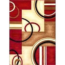 red and brown area rugs red brown and cream area rugs arcs and shapes red red