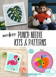 Punch Needle Embroidery Patterns Free Custom Design
