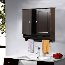 Yaheetech Bathroomkitchen Wall Mounted Cabinet Double Door