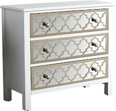 glass chest of drawers 3 drawer overlay mirrored accent ikea