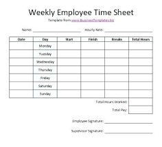 Hours Sheet Template Skincense Co