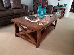 rustic farmhouse style coffee table and end tables the sets stackable storage cubes sofa cushions round