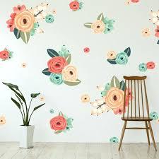 flower wall decals d pttern australia metal art hobby lobby 3d white
