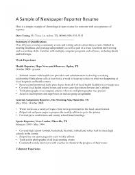 Correspondent Resume Stunning Best Journalist Resume Template Photos Entry Level Resume 17