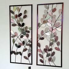 pink silver leaves large iron wall art framed wall sculpture home decor colorful leaves pair of  on colorful metal wall art decor with wall art top 10 amazing pictures iron wall art decor wrought iron