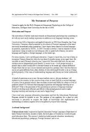 Statement Of Purpose Graduate School Example 50 Statement Of Purpose Examples Graduate School Mba Phd