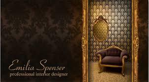 business cards interior design. Interior Designer Classic Style Chocolate Card Business Template Cards Design