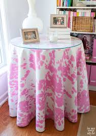 round bedside table covers how to make a round tablecloth in my own style