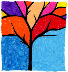 Art For Kids Art Projects For Kids Abstract Tree My Little Made This Awhile
