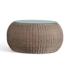 breathtaking round rattan coffee table 12 creative of wicker side large woven patio tables canada