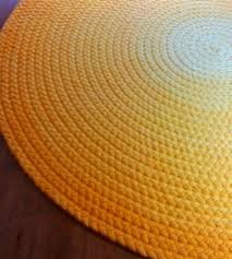 cute custom made cotton braided area rug with bright yellow ombre round or hand light glancing ourspace x nance carpet then large size of fur s plush