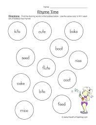 Rhyming Words Worksheets For Kindergarten Elegant Printable Free ...
