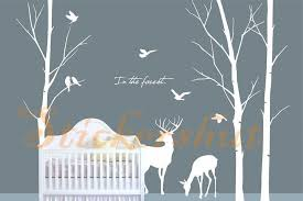 auall art exhibition white tree wall decals nursery