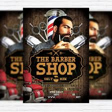 barber flyer barber shop premium flyer template facebook cover