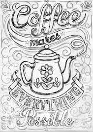 Coffee Print Work In Progress Pretty Crafts To Try Free Coloring
