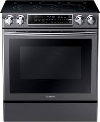 samsung black stainless stove. Plain Black Samsung NE58K9500SG 31 Inch SlideIn Electric Range With 5 Heating  Elements 58 Cu Ft Convection Oven Guiding Light Controls Perfect Cooking Probe  And Black Stainless Stove N
