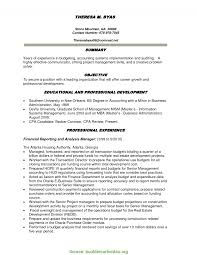 Valuable Finance Resume Objective Financial Planning Manager Sample