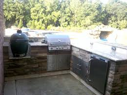 built in big green egg we design your outdoor