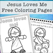 Our world is so exciting that every its particle may cause our curiosity and desire to explore it. Jesus Loves Me Coloring Pages Free Printables Set For Kids