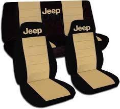 jeep wrangler black tan car seat covers