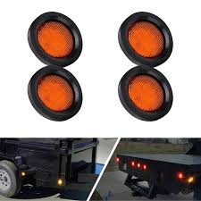 Trailer Side Marker Lights Us 10 89 37 Off 4pcs 24v 7led Waterproof Round Trailer Side Marker Lights Front Rear Trucks Clearance Lights Lamp Bullet Yellow On Aliexpress