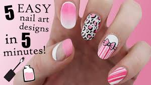 5 Nail Designs Five In Five Easy Pink Nail Art Designs Nailed It Nz