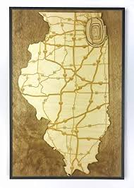Amazon Com Chicago Illinois State Map By Stadium Map Art