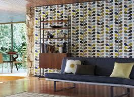 living room orla kiely multi:  orla kiely wallpaper multi stem seagreen