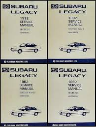 1992 subaru legacy repair shop manual original 4 volume set Subaru Legacy Wiring-Diagram Regulator 1992 subaru legacy repair manual original 4 volume set
