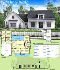 modern farmhouse floor plans. Architectural Designs Modern Farmhouse Plan 51762HZ Gives You Just Over 2,000 Square Feet Of Heated Living Floor Plans