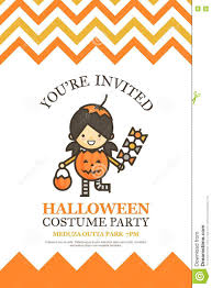 halloween invitations cards pumpkin girl halloween invitation card for costume night