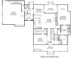 Southern Heritage Home Designs House Plan 3452 A Elmwood First Floor Plan Garage Floor