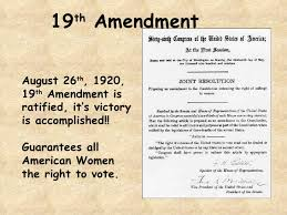 「1920, us amendment 19 ratified」の画像検索結果
