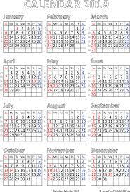 Calendar 2019 Printable With Holidays Printable Calendar 2019 For Canada Free Printable Pdf