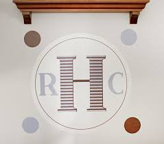 monogram kids wall decal pottery barn