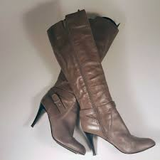 details about nine west maravillao y leather zip tall knee boots 7 1 2 m 189 grey women s