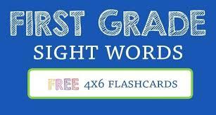 1st Grade Flash Cards Flash Cards Sight Words Level C Pocket Kindergarten Printable Free
