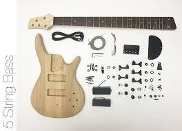 diy electric bass guitar kit 5 string ash bass