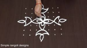 Step By Step Kolam Designs With Dots Pin On 7 To 7 Dots Simple Rangoli Designs