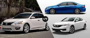 Nissan Altima vs 2016 Toyota Camry vs 2016 Honda Accord