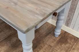 bespoke pine dining table painted base