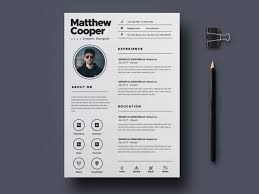 Designer Resume Templates Free Graphic Designer Resume Template By Julian Ma On Dribbble
