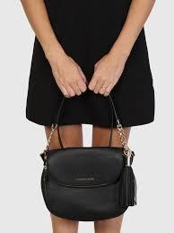 bedford shoulder bag tassel leather black