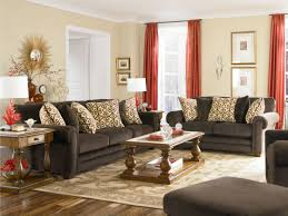 brown couch living room decorating