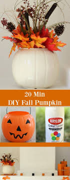 This super easy DIY Fall Pumpkin only takes 20 minutes start to finish!  Using a plastic pumpkin and a can of spray paint, and add some bling from  dollar ...