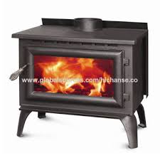 china wood burning fireplace with classic cast iron feed door and legs