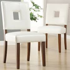avice pu leather dining chair in chestnut natural legs dorel
