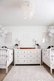 twins nursery furniture. Neutral Twin Nursery, Capiz Pendant, White And Tan Nursery Twins Furniture